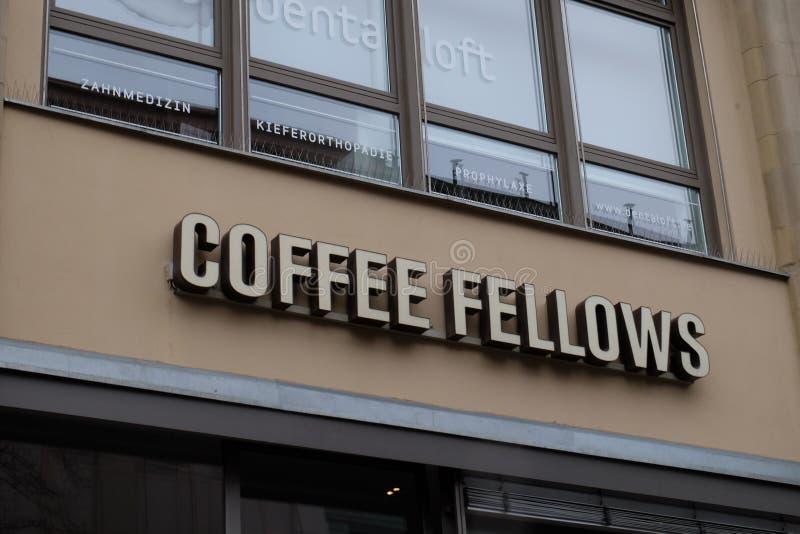 咖啡家伙在法兰克福购物商标 库存图片