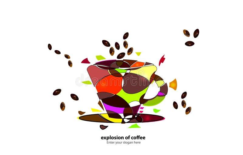 咖啡展开 皇族释放例证