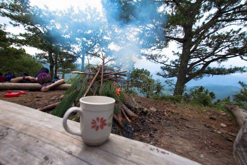 咖啡山和冒险 免版税库存图片