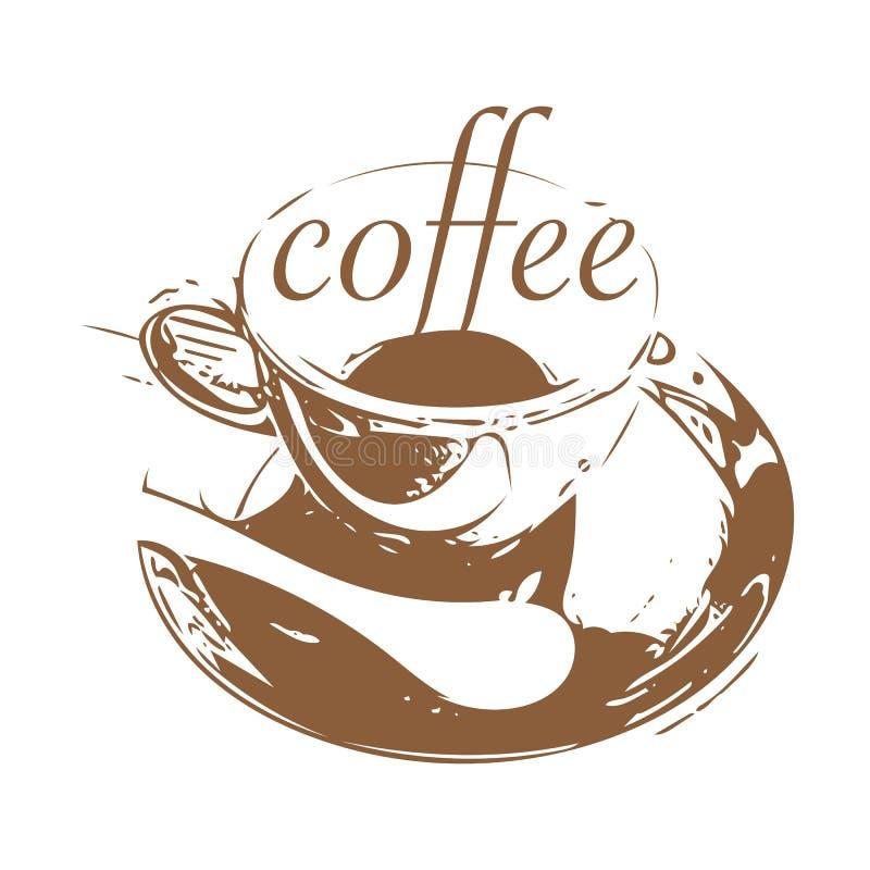 咖啡店商标设计 库存例证