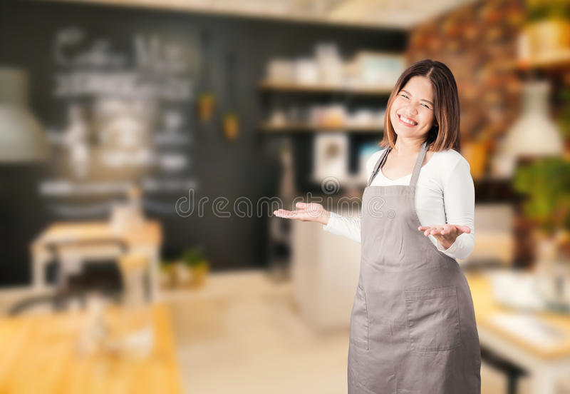 咖啡店所有者 库存图片
