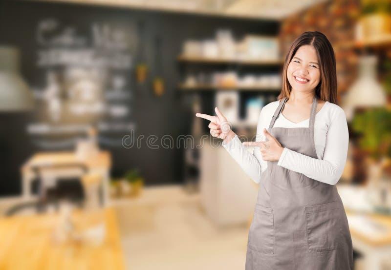咖啡店所有者 免版税库存照片