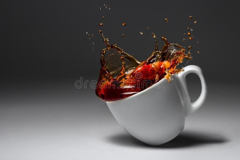 咖啡或茶落被阐明的表面 库存照片