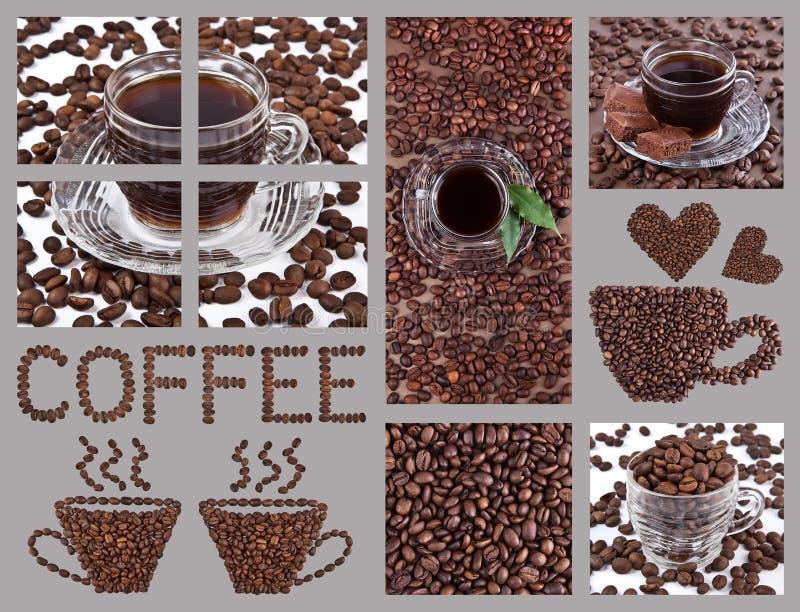 咖啡拼贴画 免版税库存照片
