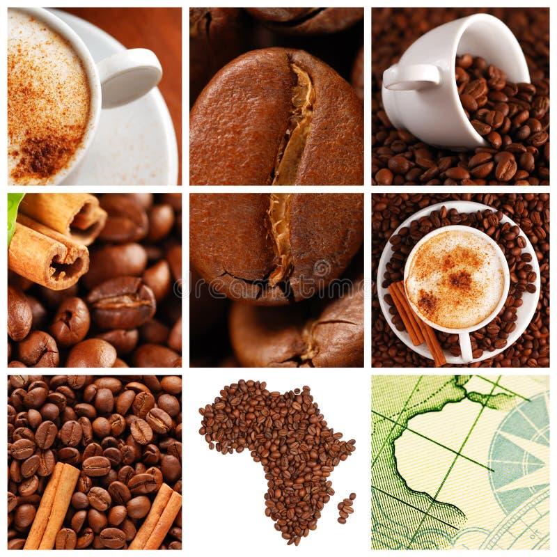咖啡拼贴画 免版税图库摄影