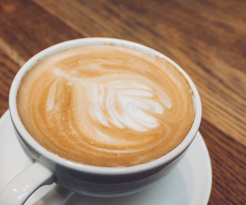 咖啡拿铁或热奶咖啡 库存照片