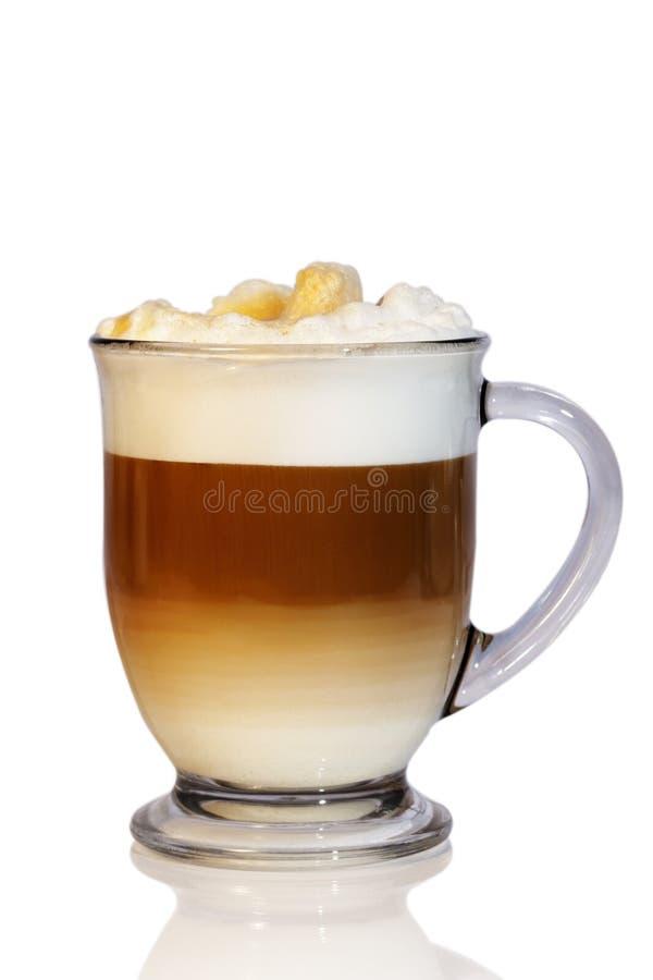 咖啡拿铁玻璃杯子 库存照片
