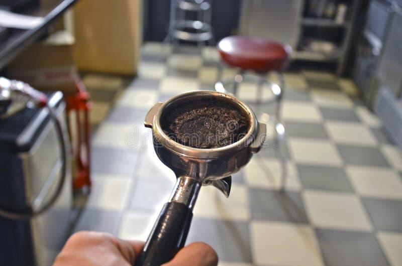 咖啡持有人 库存照片
