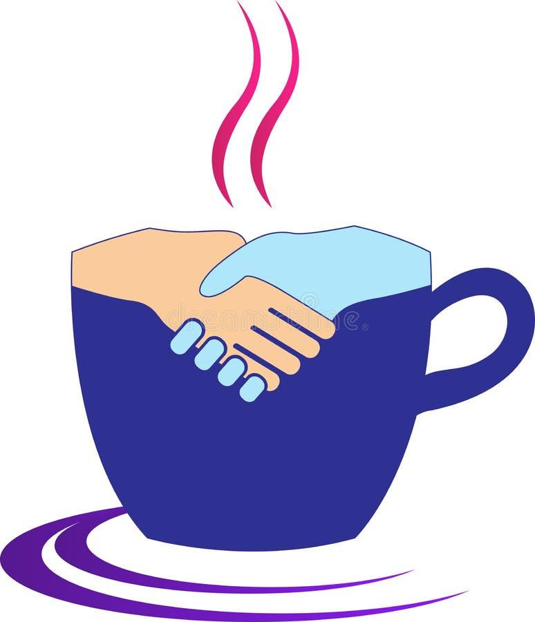 咖啡握手 向量例证