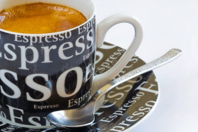 咖啡新鲜crema的浓咖啡 库存图片