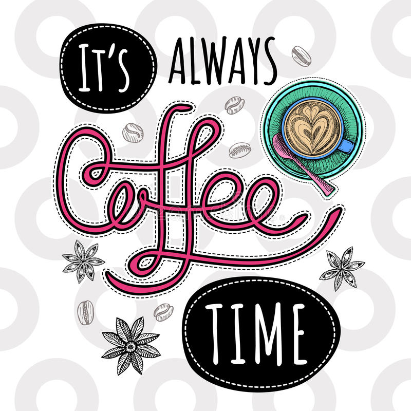 咖啡时髦传染媒介 库存例证