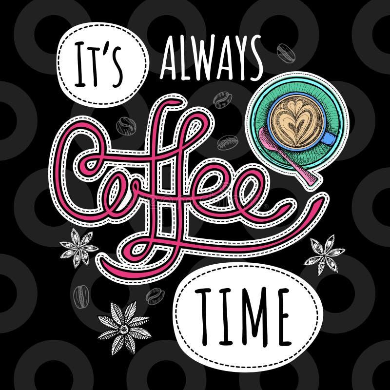 咖啡时髦传染媒介 皇族释放例证