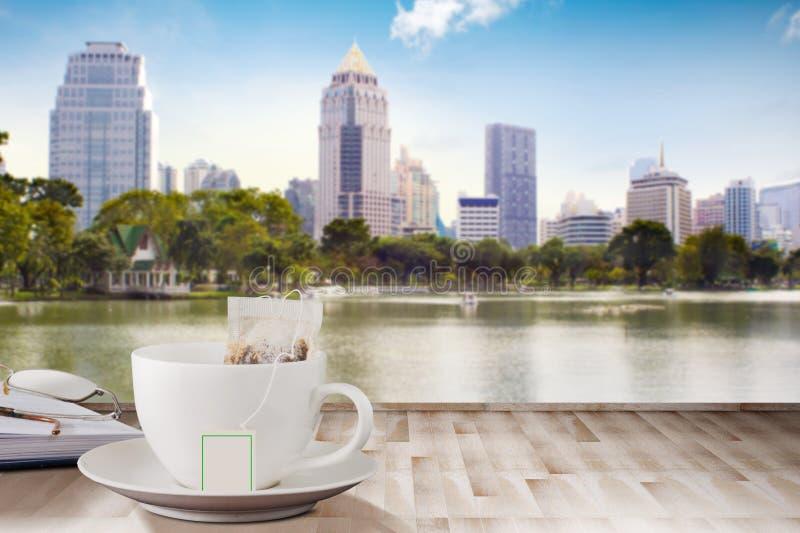 咖啡木表3 免版税库存图片