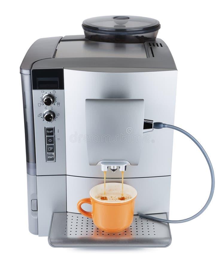 咖啡机器煮沸 免版税库存图片