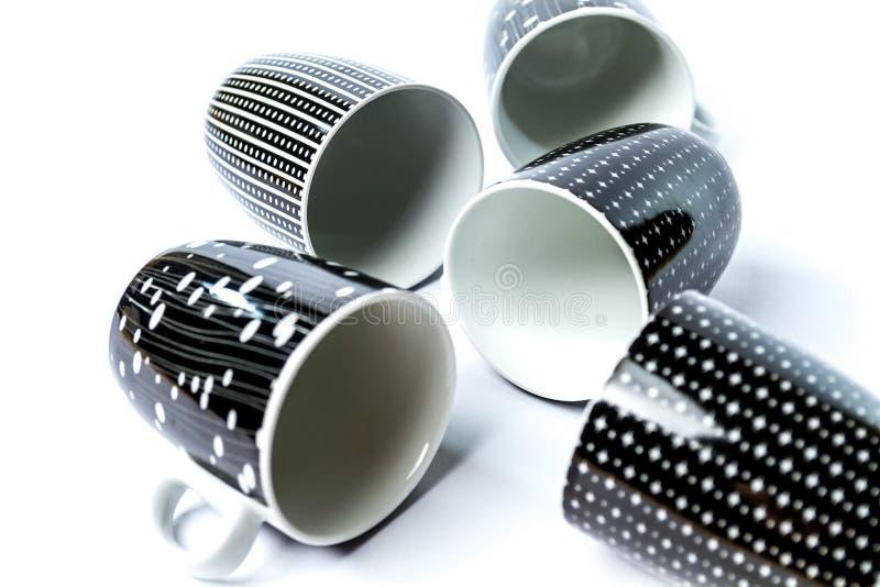 咖啡杯五 免版税图库摄影