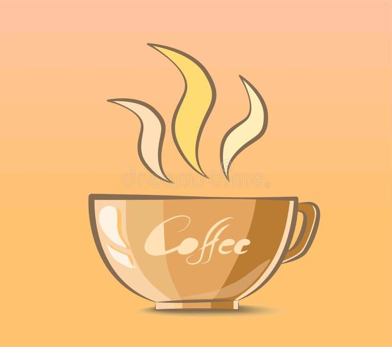 咖啡杯传染媒介例证 免版税库存图片