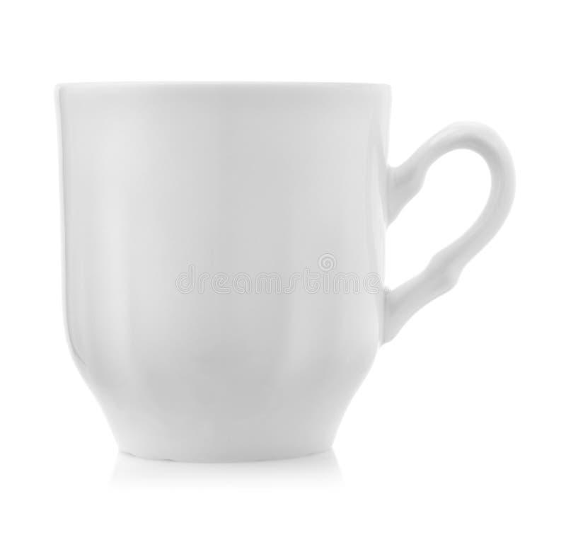 咖啡杯侧视图  免版税库存图片