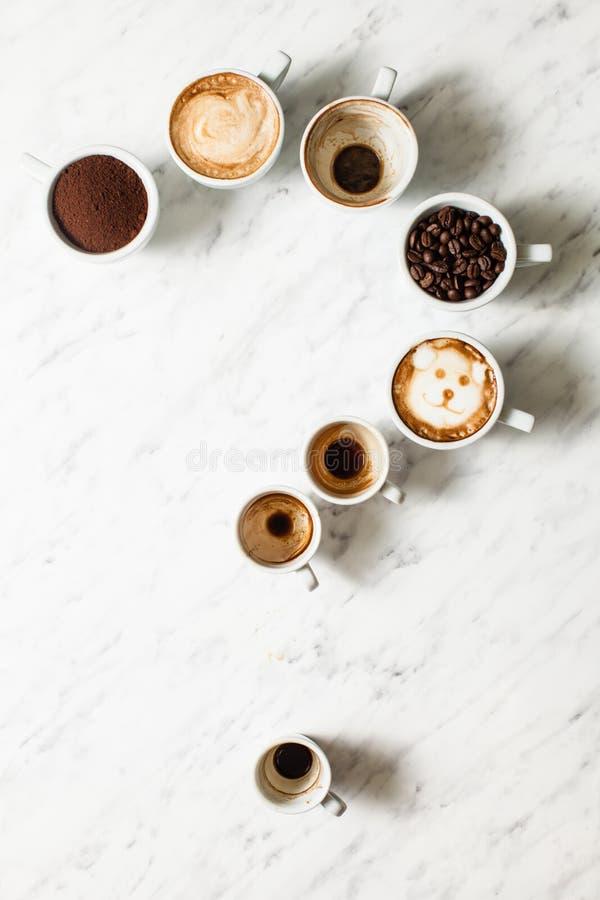 咖啡杯分类 库存图片