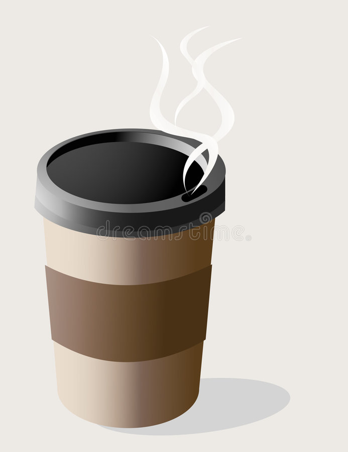 咖啡杯去 库存图片