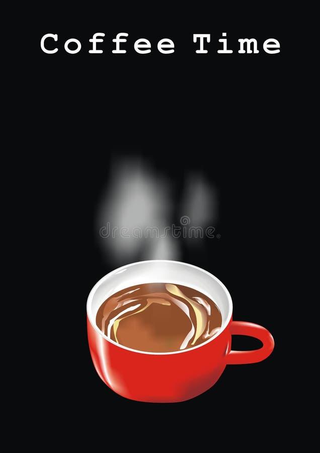 咖啡杯向量 皇族释放例证