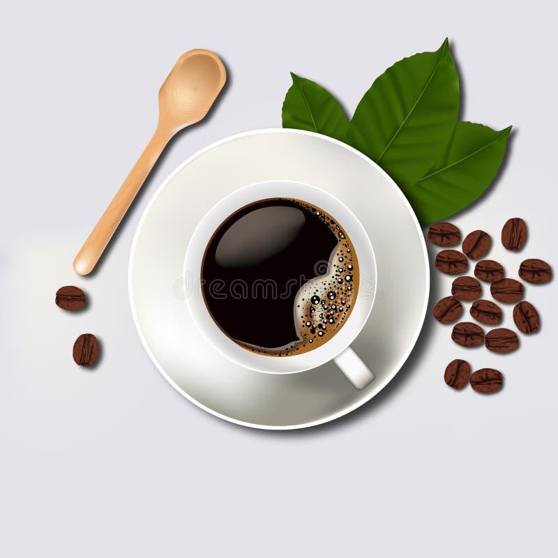 咖啡杯和豆 库存照片