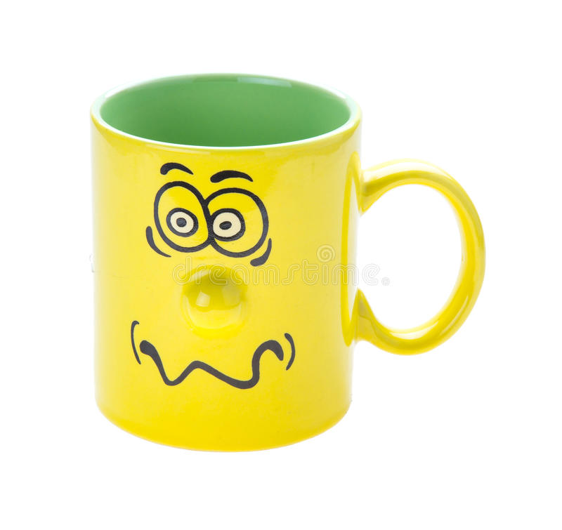 咖啡杯咧嘴 库存照片