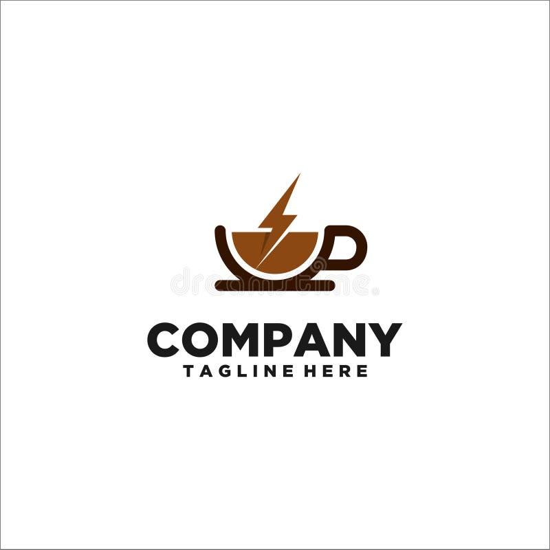 咖啡杯商标模板传染媒介 向量例证