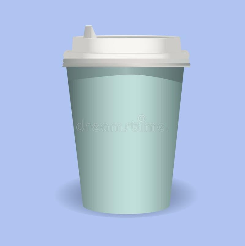 咖啡杯嘲笑 库存照片