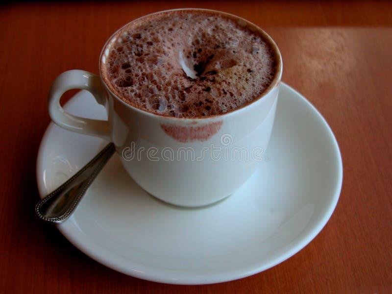 咖啡杯她 免版税库存图片