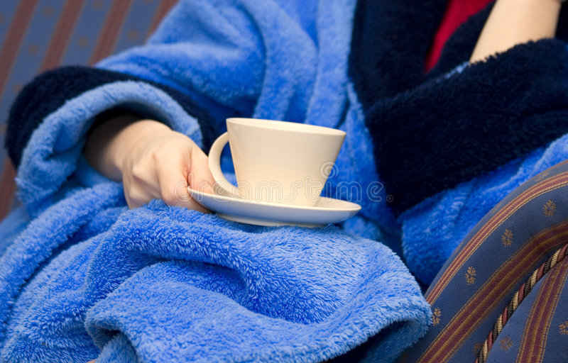 咖啡杯妇女 免版税库存照片