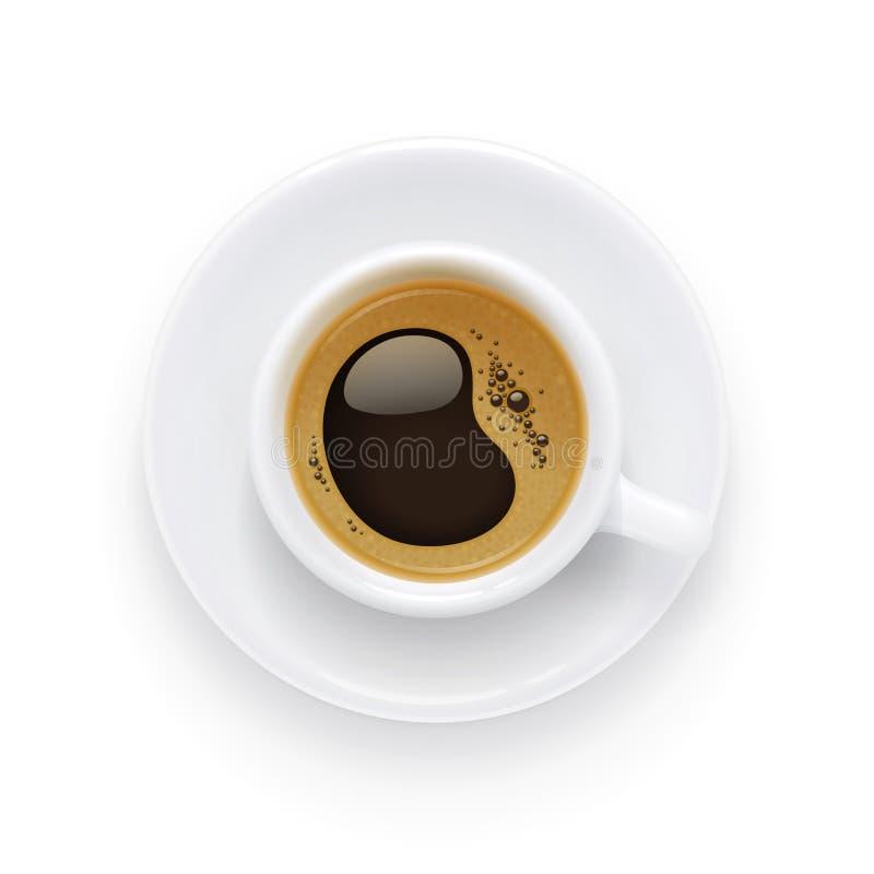 咖啡杯子板 早餐传染媒介例证的芳香饮料 库存例证