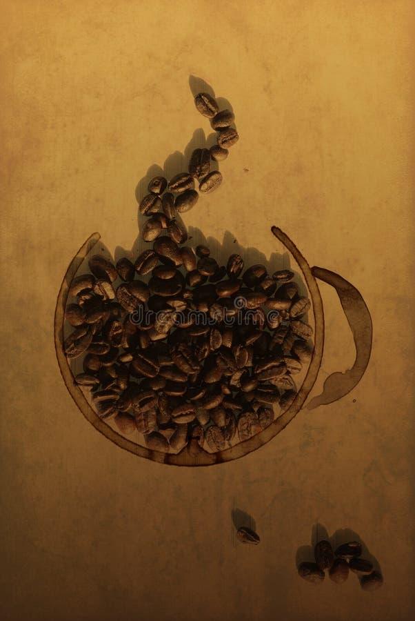 咖啡杯描述 免版税库存图片