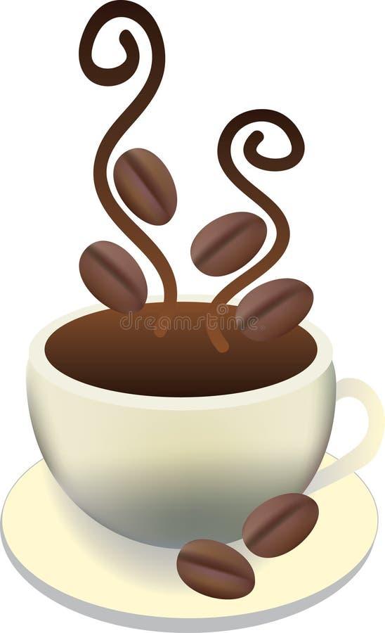 咖啡杯新鲜热 库存例证