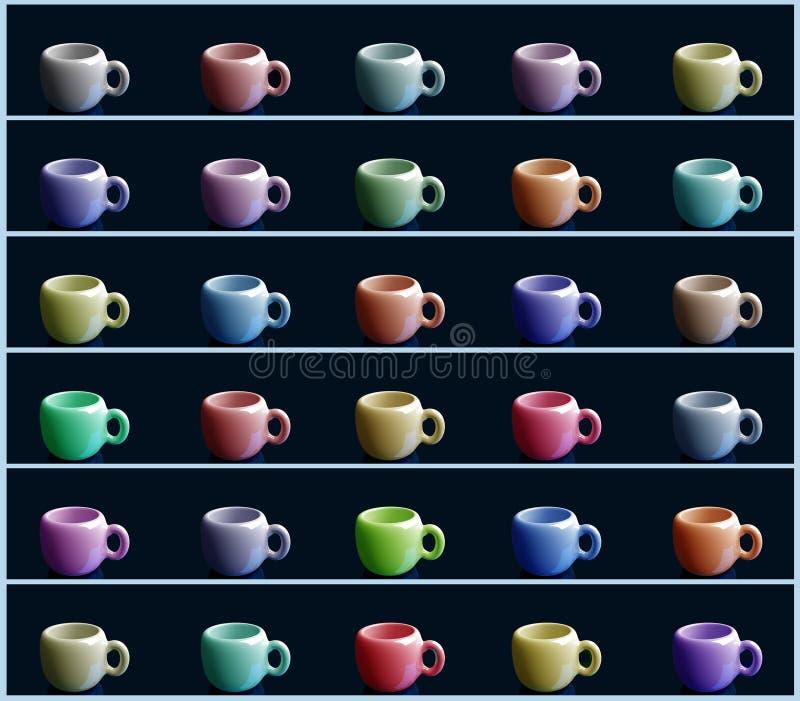 咖啡杯杯子梦想的重点前面有查找软的照片 皇族释放例证