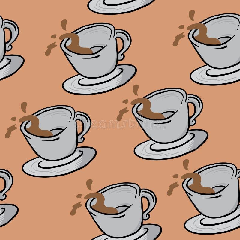 咖啡杯样式 皇族释放例证