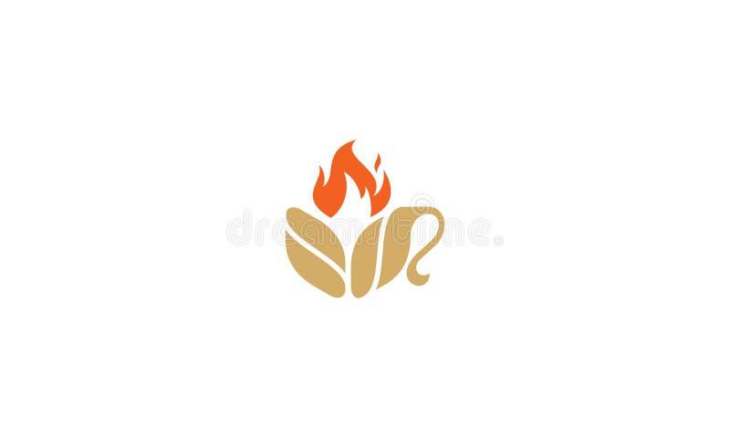 咖啡杯火商标传染媒介象 向量例证