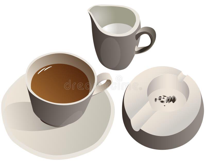 咖啡杯牛奶 图库摄影