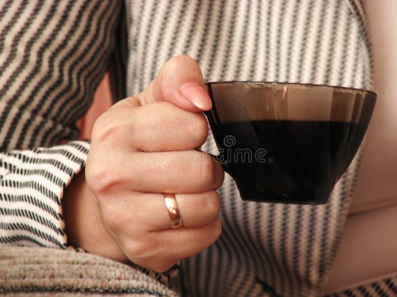 咖啡杯现有量 库存图片