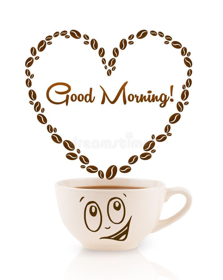 Download 咖啡杯用咖啡豆塑造了与早晨好标志的心脏 库存照片. 图片 包括有 查出, 制动手, 重点, 打赌的人, 投反对票 - 62526660
