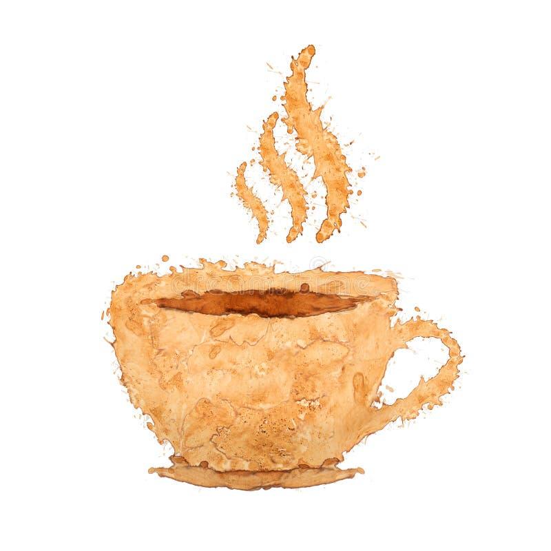 以咖啡杯的形式标志 库存图片