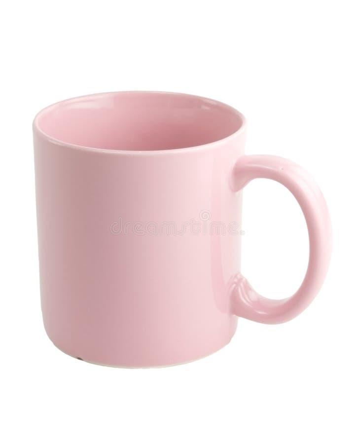 咖啡杯粉红色 免版税库存照片