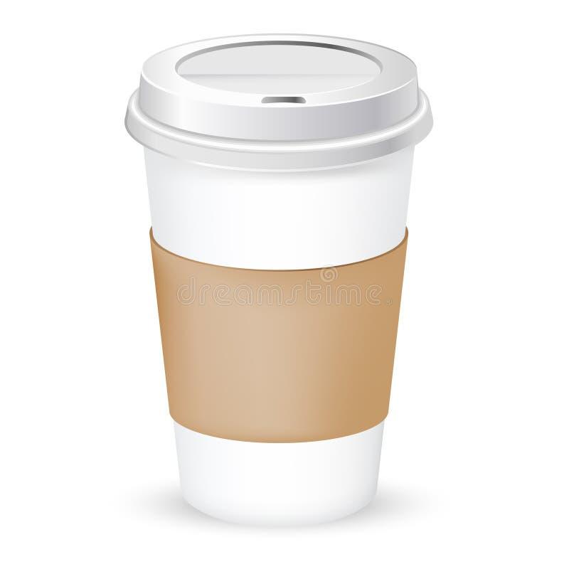 咖啡杯纸张 皇族释放例证