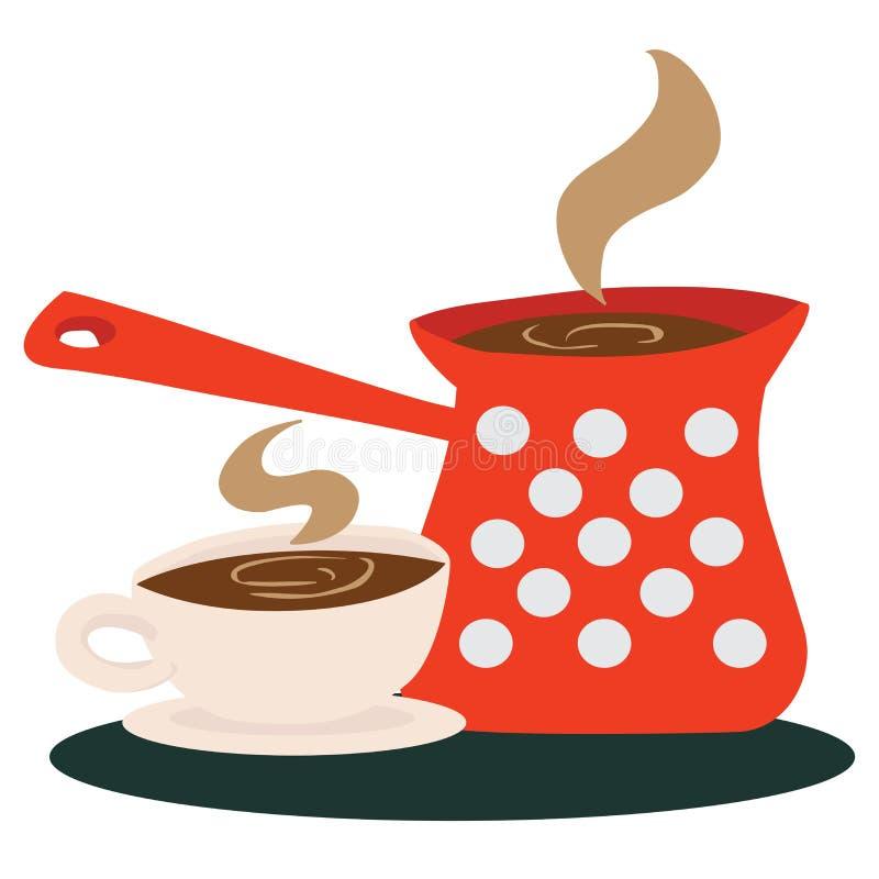 咖啡杯罐 库存例证