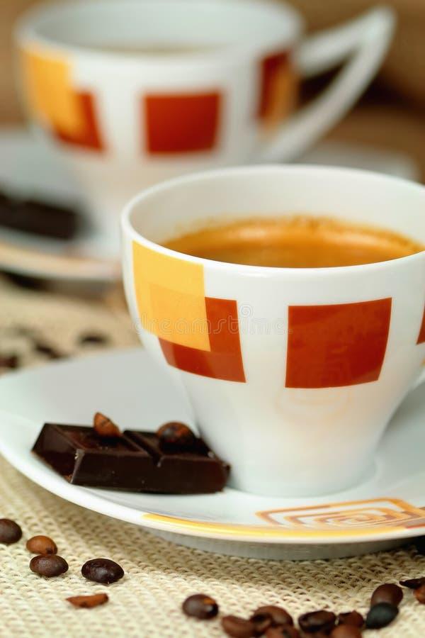 咖啡杯详细资料热美妙 库存照片