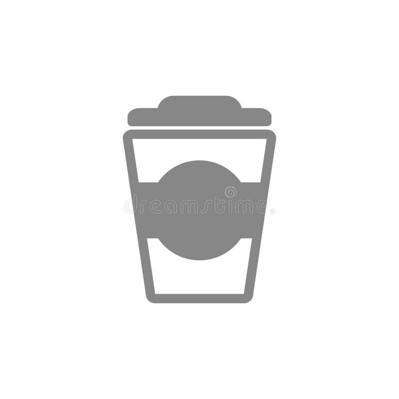 咖啡杯象 传染媒介饮料例证 热的杯子饮料,热的咖啡饮料商标传染媒介设计模板 库存例证