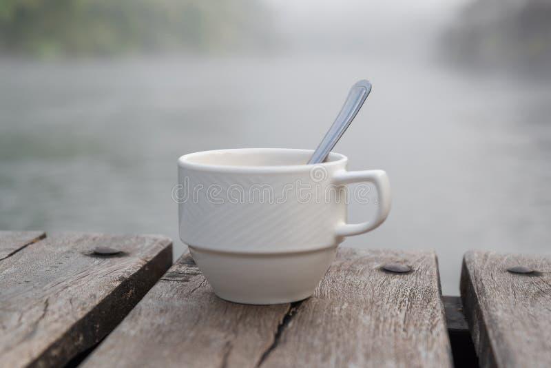 咖啡杯软的射击  库存图片