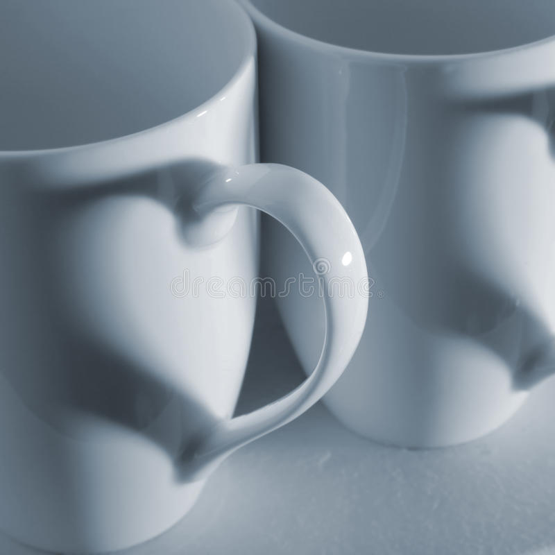 咖啡杯重点 免版税库存照片