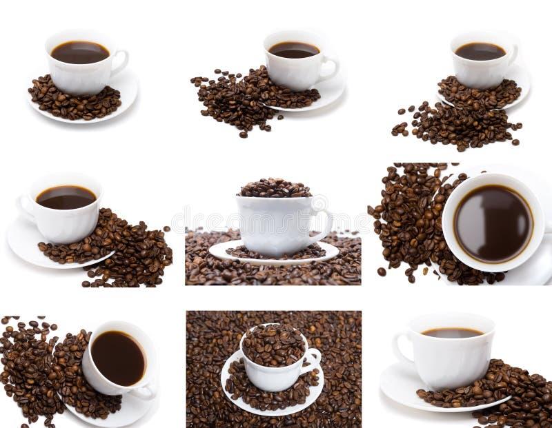 咖啡杯集 免版税库存照片