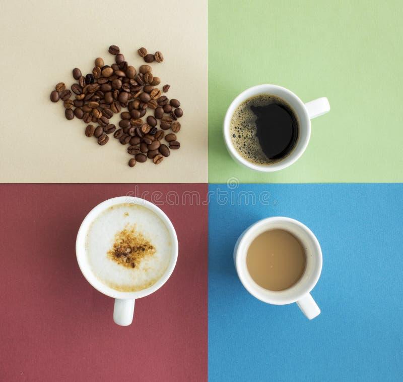 咖啡杯顶视图 免版税库存图片