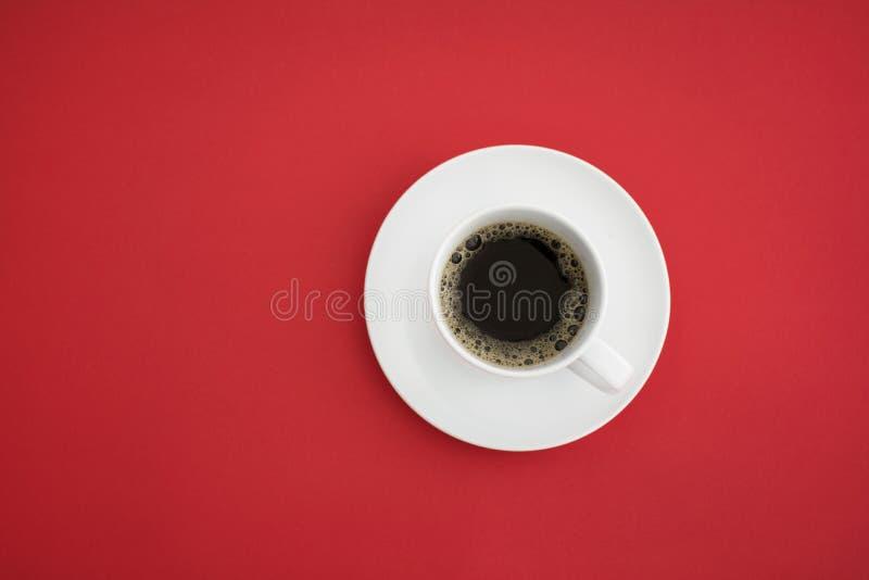 咖啡杯顶视图 库存图片